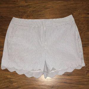 NEW Kenar Scalloped Seasucker Shorts